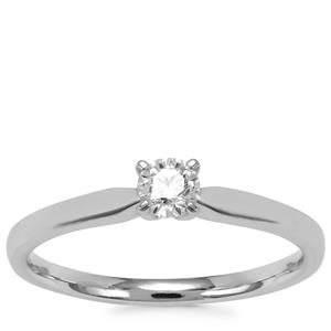 Diamond Ring in Platinum 950 0.27ct