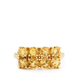 2.14ct Ouro Preto Imperial Topaz 9K Gold Ring
