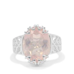 Rose Quartz Ring in Sterling Silver 8.50cts