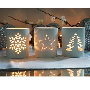 Set of 3 Silhouette Candle Holders