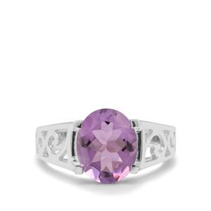 Amethyst Ring in Sterling Silver 3.10cts