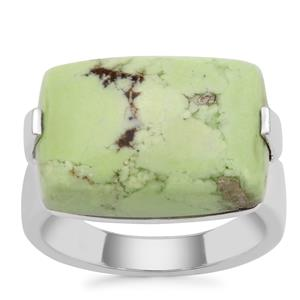 Queensland Chrysoprase Ring in Sterling Silver 13cts