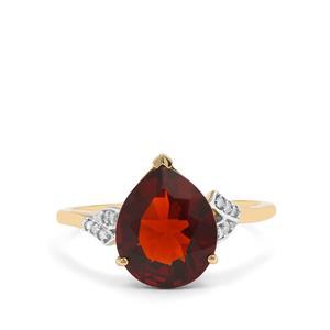 Madeira Citrine & Diamond 9K Gold Ring ATGW 2.77cts