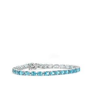 Swiss Blue Topaz Bracelet in Sterling Silver 17.40cts