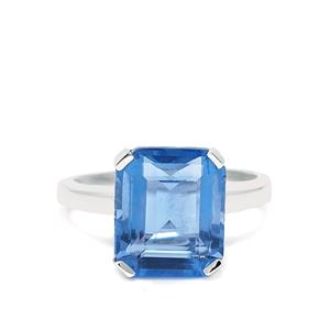 7.16ct Colour Change Fluorite Sterling Silver Ring