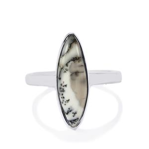 Siberian Dendrite Quartz Ring in Sterling Silver 3.30cts