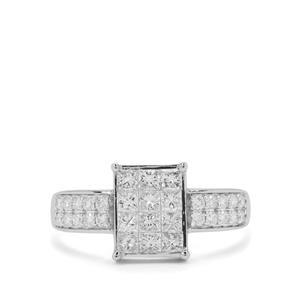 Diamond Ring in Platinum 950 1cts