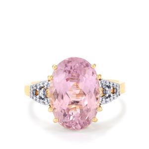 Mawi Kunzite & Diamond 18K Gold Lorique Ring MTGW 8.14cts