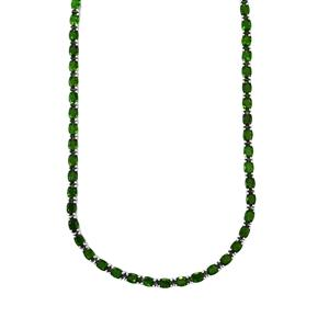 Chrome Diopside Necklace in Sterling Silver 35.73cts