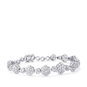 4ct Diamond Sterling Silver Bracelet