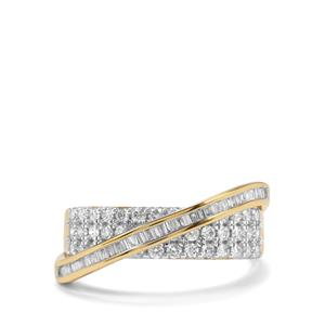 Diamond Ring in 18K Gold 0.77ct