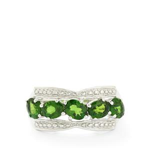 2.16ct Chrome Diopside Sterling Silver Ring