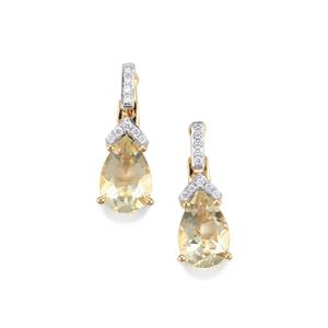 Serenite Earrings with Diamond in 18K Gold 2.58cts
