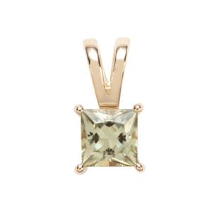 Csarite® Pendant in 10K Gold 1.20cts