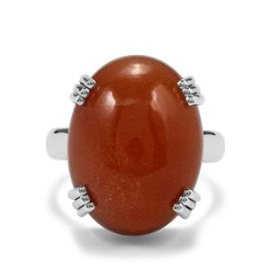19ct Peach Moonstone Sterling Silver Aryonna Ring