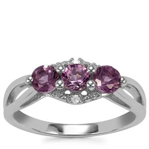 Kenyan Amethyst Ring with White Topaz in Sterling Silver 0.74cts