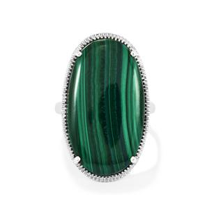 Malachite Ring in Sterling Silver 23.45cts