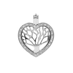 Diamond Heart Pendant in Sterling Silver 0.20ct