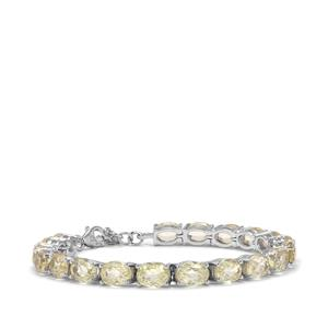 Minas Novas Hiddenite Bracelet in Sterling Silver 29.07cts