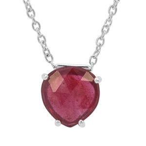 2.45ct Rose Cut Moramanga Ruby Sterling Silver Necklace (F)