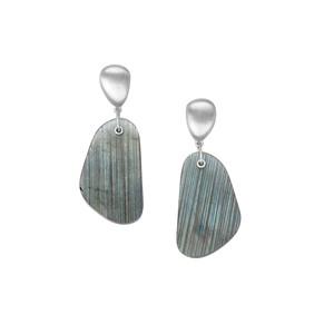 44.88ct Labradorite Sterling Silver Earrings