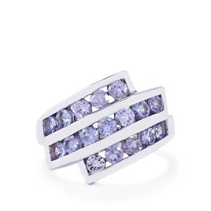 Tanzanite Ring in Sterling Silver 1.74cts