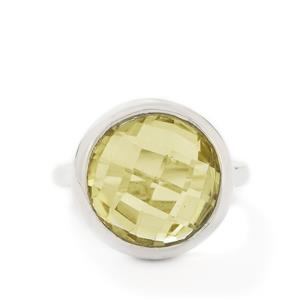 11.00ct Lemon Quartz Sterling Silver Ring