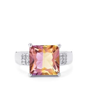 Anahi Ametrine Ring with White Topaz in Sterling Silver 4.73cts