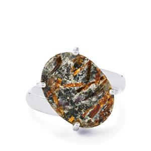Astrophyllite Drusy Ring in Sterling Silver 10cts