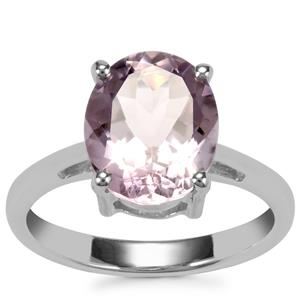 Rose De France Amethyst Ring in Sterling Silver 3.26cts