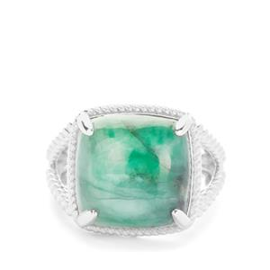 Minas Velha Emerald Ring in Sterling Silver 12.06cts