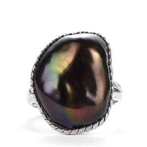 Baroque Cultured Pearl Sterling Silver Ring (19.50x15mm)