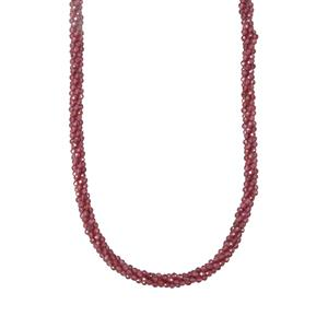 Garnet Bead Necklace in Sterling Silver 79.64cts