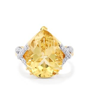 Serenite Ring with Diamond in 14k Gold 6.96cts