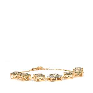Csarite® Bracelet with Diamond in 18K Gold 14.25cts