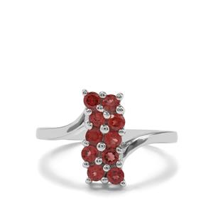 0.96ct Rhodolite Garnet Sterling Silver Ring