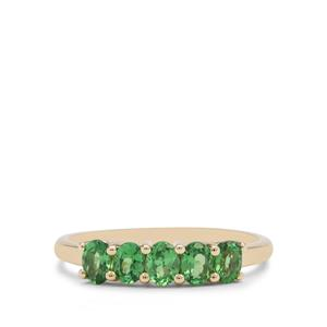 0.94ct Tsavorite Garnet 9K Gold Ring