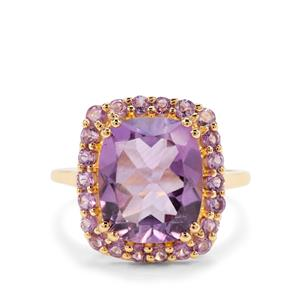 5.39ct Rose De France Amethyst Midas Ring