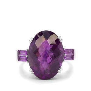 11.46ct Zambian Amethyst Sterling Silver Ring
