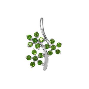 Chrome Diopside Pendant in Sterling Silver 1.83cts