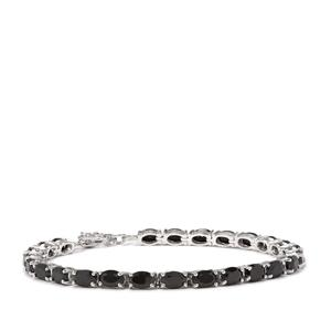 Black Spinel Bracelet in Sterling Silver 15.25cts