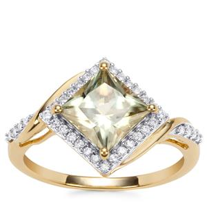 Csarite® Ring with Diamond in 18K Gold 2cts