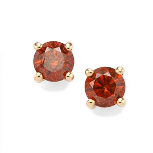 Cognac Diamond Earrings in 10K Gold 0.53ct