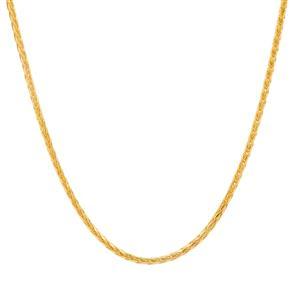 "24"" Midas Dettaglio Diamond Cut Spiga Slider Chain 2.89g"