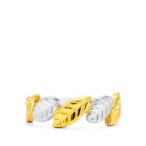 Textured Ring  in Two Tone Gold Plated Sterling Silver