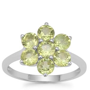 Red Dragon Peridot Ring in Sterling Silver 2cts