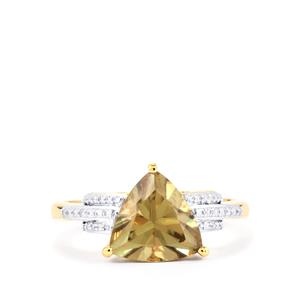 Csarite® Ring with Diamond in 18k Gold 2.86cts