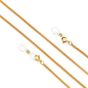 "30"" Gold Tone Sterling Silver Popcorn Glasses Chain 4.56g"
