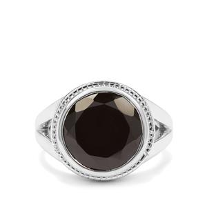 5.09ct Black Spinel Sterling Silver Ring