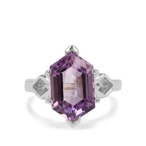 5.70ct Moroccan Amethyst Sterling Silver Ring